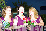 The beautiful bridesmaids who were on hand to help the bride were l-r Gemma San Juan, Rebecca White & Sarah McCarthy.