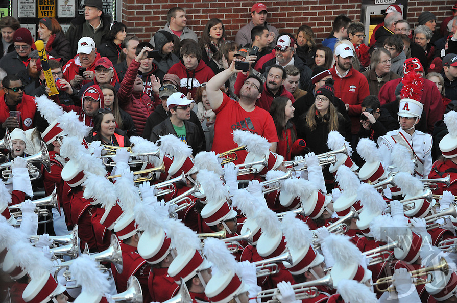 NWA Democrat-Gazette/MICHAEL WOODS • @NWAMICHAELW<br /> The parade before the University of Arkansas Razorbacks take on the Kansas State wildcats in the 57th annual AutoZone Liberty Bowl January 2, 2016.