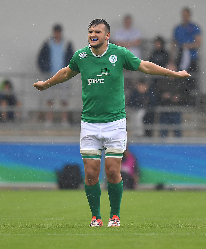 Greg Jones of Ireland<br /> <br /> Photographer Dave Howarth/CameraSport<br /> <br /> International Rugby Union - U20 World Rugby Championships 2016 - Pool A - New Zealand U20 v Ireland U20 - Match 10 - Saturday 11th June 2016 - Manchester City Academy Stadium - Manchester<br /> <br /> World Copyright &copy; 2016 CameraSport. All rights reserved. 43 Linden Ave. Countesthorpe. Leicester. England. LE8 5PG - Tel: +44 (0) 116 277 4147 - admin@camerasport.com - www.camerasport.com<br /> <br /> Photographer Stephen White/CameraSport<br /> <br /> International Rugby Union - U20 World Rugby Championships 2016 - Pool C France U20 v Argentina U20 - Match 1 - Tuesday 07th June 2016 - AJ Bell Stadium - Salford - England<br /> <br /> World Copyright &copy; 2016 CameraSport. All rights reserved. 43 Linden Ave. Countesthorpe. Leicester. England. LE8 5PG - Tel: +44 (0) 116 277 4147 - admin@camerasport.com - www.camerasport.com