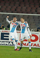 Piotr Zielinski celebrates after scoring during the  italian serie a soccer match,between SSC Napoli and Inter      at  the San  Paolo   stadium in Naples  Italy , December 02, 2016