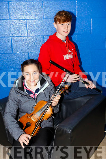 Ceol an Gheimhridh competitions at the IT Tralee South Campus on Saturday. Pictured were Aibhin O'Neill and Hamish O'Carroll from Ballydonoghue/Lisselton CCE