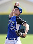 Basic's Shane Spencer pitches against Palo Verde in the NIAA 4A baseball championship game in Reno, Nev., on Saturday, May 19, 2018. Palo Verde won 4-2. Cathleen Allison/Las Vegas Review-Journal
