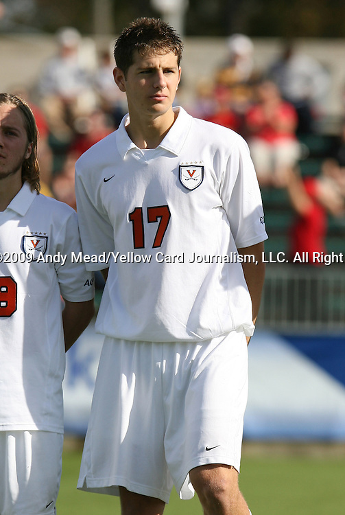 15 November 2009: Virginia's Hunter Jumper. The University of Virginia Cavaliers defeated the North Carolina State University Wolfpack at WakeMed Stadium in Cary, North Carolina in the Atlantic Coast Conference Men's Soccer Tournament Championship game.