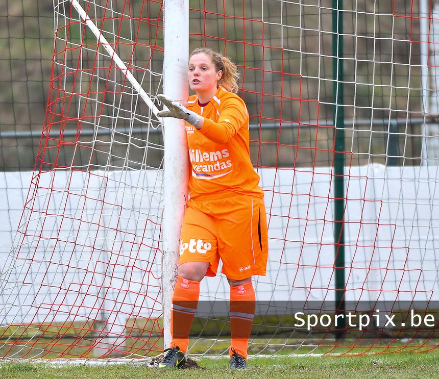 AA Gent Ladies - RAEC Mons : doelvrouw Anne-Sophie Goguillon .foto Joke Vuylsteke / Vrouwenteam.be