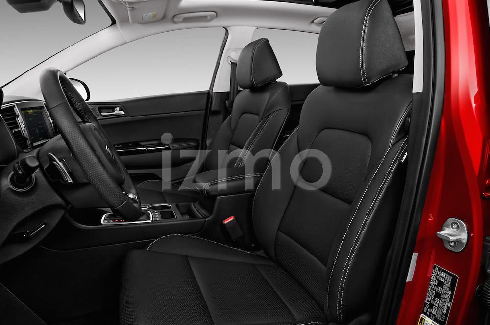 Front seat view of 2017 KIA Sportage SXAWD 5 Door SUV Front Seat  car photos