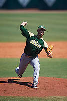USF Bulls pitcher Andres Perez (26) delivers a pitch during live batting practice on February 11, 2017 at USF Baseball Stadium in Tampa, Florida.  (Mike Janes/Four Seam Images)