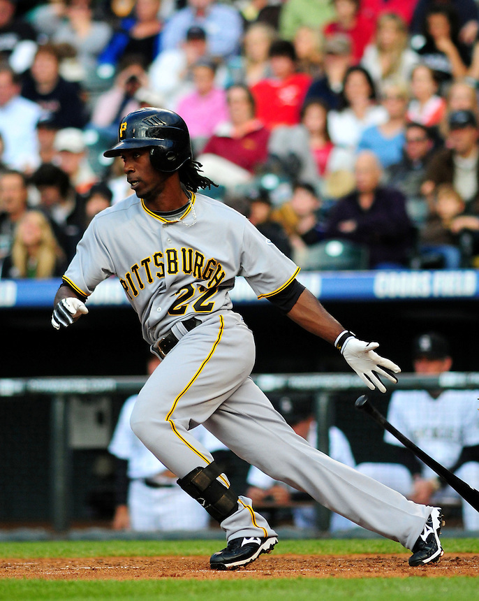 June 20, 2009: Pirates outfielder National League Rookie of the Year candidate Andrew McCutchen during a game between the Pittsburgh Pirates and the Colorado Rockies at Coors Field in Denver, Colorado. The Rockies beat the Pirates 9-7, which is their 15th win in 16 games.