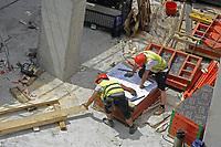 - Milano, maggio 2019, cantiere del nuovo grattacielo Unipol SAI nella zona di Garibaldi Porta Nuova piazza Gae Aulenti<br /> <br /> - Milan, May 2019, construction site of the new Unipol SAI skyscraper in the Garibaldi Porta Nuova area,  Gae Aulenti square