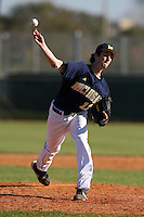 February 28, 2010:  Pitcher Brandon Sinnery of the Michigan Wolverines during the Big East/Big 10 Challenge at Raymond Naimoli Complex in St. Petersburg, FL.  Photo By Mike Janes/Four Seam Images