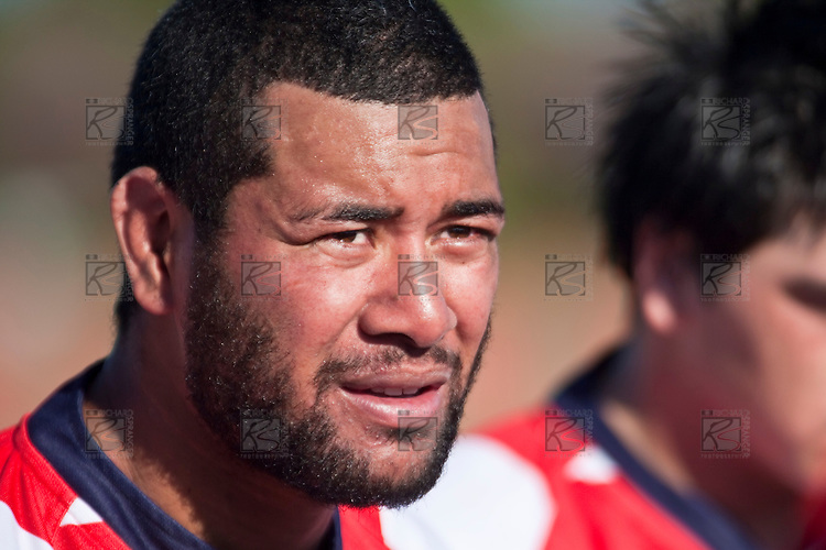Karaka captain Siale Piutau. Counties Manukau Premier Club Rugby game bewtween Waiuk & Karaka played at Waiuku on Saturday April 11th, 2010..Karaka won the game 24 - 22 after leading 21 - 9 at halftime.