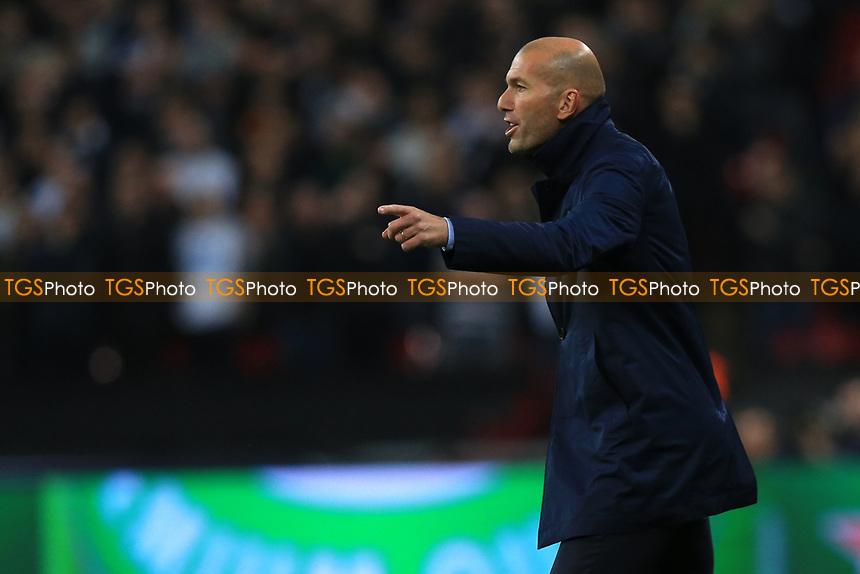 Real Madrid Manager Zinedine Zidane during Tottenham Hotspur vs Real Madrid, UEFA Champions League Football at Wembley Stadium on 1st November 2017
