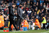 17th March 2019, Craven Cottage, London, England; EPL Premier League football, Fulham versus Liverpool; A frustrated Fulham Manager Scott Parker in the technical area