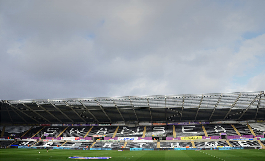 A general view of Liberty Stadium, home of the Ospreys<br /> <br /> Photo by Kevin Barnes/CameraSport<br /> <br /> Rugby Union - RaboDirect PRO12 - Ospreys v Connacht - Saturday 10th May 2014 - Liberty Stadium - Swansea<br /> <br /> &copy; CameraSport - 43 Linden Ave. Countesthorpe. Leicester. England. LE8 5PG - Tel: +44 (0) 116 277 4147 - admin@camerasport.com - www.camerasport.com