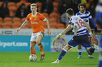Blackpool's Callum Guy under pressure from Reading's Lucas Boye<br /> <br /> Photographer Kevin Barnes/CameraSport<br /> <br /> Emirates FA Cup Third Round Replay - Blackpool v Reading - Tuesday 14th January 2020 - Bloomfield Road - Blackpool<br />  <br /> World Copyright © 2020 CameraSport. All rights reserved. 43 Linden Ave. Countesthorpe. Leicester. England. LE8 5PG - Tel: +44 (0) 116 277 4147 - admin@camerasport.com - www.camerasport.com