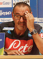 Conferenza Stampa   Maurizio Sarri <br /> ritiro precampionato Napoli Calcio a  Dimaro 15 Luglio 2015<br /> <br /> Preseason summer training of Italy soccer team  SSC Napoli  in Dimaro Italy July 5a, 2015