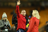8th November 2019; Carrow Road, Norwich, Norfolk, England, English Premier League Football, Norwich versus Watford; Gerard Deulofeu of Watford is interviewed by Sky sports after the 0-2 win - Strictly Editorial Use Only. No use with unauthorized audio, video, data, fixture lists, club/league logos or 'live' services. Online in-match use limited to 120 images, no video emulation. No use in betting, games or single club/league/player publications