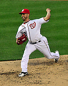 Washington Nationals pitcher Gio Gonzalez (47) pitches in the fourth inning against the Washington Nationals at Nationals Park in Washington, D.C. on Friday, June 15, 2012.  The Yankees won the game 7 - 2..Credit: Ron Sachs / CNP.(RESTRICTION: NO New York or New Jersey Newspapers or newspapers within a 75 mile radius of New York City)