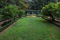 Lawn in the Wisteria garden;Gamble Garden, Palo Alto, California