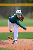 Chicago State University Cougars pitcher James Tucker #34 during a game against the Muskingum Fighting Muskies at South County Regional Park on March 3, 2013 in Punta Gorda, Florida.  (Mike Janes/Four Seam Images)