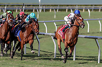 HALLANDALE BEACH, FL - FEB 10:Heart to Heart #1 trained by Brian A. Lynch with Julien Leparoux in the irons wins the $300,000 Gulfstream Park Turf  Stakes (G1) at Gulfstream Park on February 10, 2018 in Hallandale Beach, Florida. (Photo by Bob Aaron/Eclipse Sportswire/Getty Images)