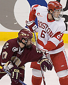Joe Rooney, Kenny Roch - The Boston University Terriers defeated the Boston College Eagles 2-1 in overtime in the March 18, 2006 Hockey East Final at the TD Banknorth Garden in Boston, MA.