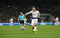 Tottenham Hotspur's Christian Eriksen scores his side's first goal  <br /> <br /> Photographer Rob Newell/CameraSport<br /> <br /> UEFA Champions League Group B - Tottenham Hotspur v Internazionale - Wednesday 28th November 2018 - Wembley Stadium - London<br />  <br /> World Copyright © 2018 CameraSport. All rights reserved. 43 Linden Ave. Countesthorpe. Leicester. England. LE8 5PG - Tel: +44 (0) 116 277 4147 - admin@camerasport.com - www.camerasport.com