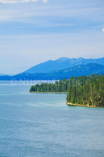 Flathead Lake shoreline in western Montana