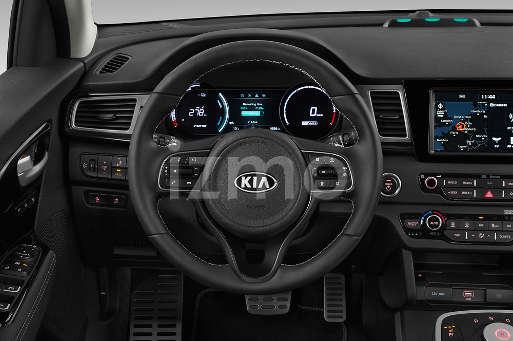 Car pictures of steering wheel view of a 2019 KIA e-Niro More 5 Door SUV Steering Wheel
