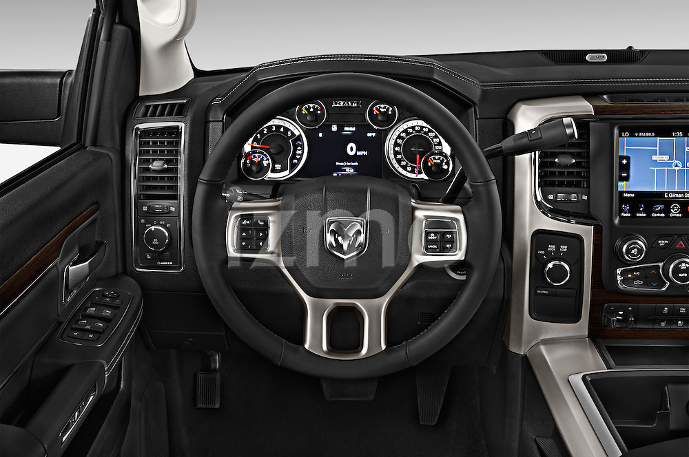 Car pictures of steering wheel view of a 2015 Ram 3500 Laramie 4 Door Van