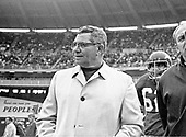 Washington Redskins head coach Vince Lombardi calls signals from the sideline during the game against the Los Angeles Rams at RFK Stadium in Washington, D.C. on November 30, 1969.  The Redskins lost the game 24 - 13.<br /> Credit: Arnie Sachs / CNP