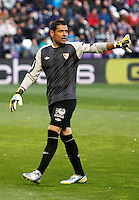 Sevilla´s goalkeeper Palop during La Liga match. March 28, 2010. (ALTERPHOTOS/Víctor J Blanco)