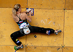 June 5, 2009: Slovenia's Natalija Gros competes in the IFSC Bouldering World Cup at the Teva Mountain Games, Vail, Colorado.