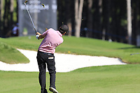 Thomas Aiken (RSA) plays his 2nd shot on the 9th hole during Saturday's Round 3 of the 2018 Turkish Airlines Open hosted by Regnum Carya Golf &amp; Spa Resort, Antalya, Turkey. 3rd November 2018.<br /> Picture: Eoin Clarke | Golffile<br /> <br /> <br /> All photos usage must carry mandatory copyright credit (&copy; Golffile | Eoin Clarke)