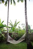 FRENCH POLYNESIA, Moorea. A hammock at the Te Nunoa Private Garden Bungalow.