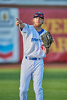 Jon Littell (48) left fielder of the Ogden Raptors during the game against the Grand Junction Rockies at Lindquist Field on August 28, 2019 in Ogden, Utah. The Rockies defeated the Raptors 8-5. (Stephen Smith/Four Seam Images)