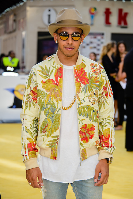 WWW.ACEPIXS.COM<br /> <br /> June 11 2015, London<br /> <br /> Lewis Hamilton arriving at The World Premiere of 'Minions 3D' at the Odeon, Leicester Square on June 11 2015 in London<br /> <br /> By Line: Famous/ACE Pictures<br /> <br /> <br /> ACE Pictures, Inc.<br /> tel: 646 769 0430<br /> Email: info@acepixs.com<br /> www.acepixs.com