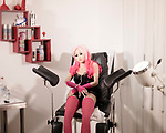 "Jessica in the clinic room<br /> <br /> <br /> Inside Bordoll, a German sex-doll brothel in Dortmund A brothel in Dortmund offers a dozen sex dolls that users can rent for any service. DW takes a look inside.<br /> Down a dead-end street in a quiet neighborhood south of Dortmund's city center stands Germany's first sex doll brothel.<br /> For €80 ($97) an hour, customers can take one of 12 silicone dolls, including one male doll and a model with both breasts and a penis, into a tidy room to fulfill their sexual desires.<br /> Evelyn Schwarz, 30, is the founder and owner of Bordoll, which is also a brothel and a studio for bondage, dominance, sadism and masochism (BDSM).<br /> A BDSM mistress, Schwarz opened Bordoll last year, after she struggled to find German-speaking women to work in the brothel. In BDSM, she told DW, communication is critical and sex workers who come from abroad and don't speak the language could miss key cues.  ""They are nonsentient, they look good, are not sick, they provide whatever service without complaining, and one can make them with the bodily features you like,"" she said, pointing out some of the positive aspects of sex dolls.<br /> Daily, she said, five to 12 people, mostly men but occasionally women and couples, come by to have sex with the dolls. Schwarz has an assistant who cleans the dolls, redresses them and puts on their makeup. How the dolls are cleaned is a ""house secret,"" Schwarz said, ""but after every use they are very well cleaned, washed and disinfected."""