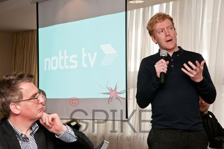 Keynote speaker James Brindle of Notts TV