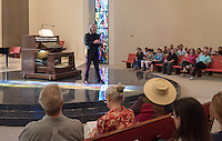 Occidental College alumni, students and their families attend the L.A .Bach Festival Organ Concert during Family Weekend & Homecoming, Oct. 22, 2016 in Herrick Chapel.<br /> (Photo by Marc Campos, Occidental College Photographer)