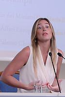 Roma, 31 Luglio 2017<br /> Palazzo Chigi<br /> Maria Elena Boschi<br /> Conferenza stampa &quot;Infrazioni, frodi, aiuti di stato Ue 2014-2017: tre anni e mezzo di risultati e risparmi record&rdquo;, con la Sottosegretaria alla Presidenza del Consiglio, Maria Elena Boschi, e il Sottosegretario alla Presidenza del Consiglio con delega agli Affari Europei.