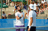 18th July 2020, Cannes, France;   Quentin Halys France and Hugo Grenier France touch raquets at the Challenge Elite FFT tournament