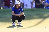 Tommy Fleetwood (ENG) on the 9th green during Sunday's Final Round of the 2018 Turkish Airlines Open hosted by Regnum Carya Golf &amp; Spa Resort, Antalya, Turkey. 4th November 2018.<br /> Picture: Eoin Clarke | Golffile<br /> <br /> <br /> All photos usage must carry mandatory copyright credit (&copy; Golffile | Eoin Clarke)
