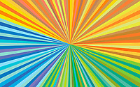 Abstract backgrounds pattern of colourful stripes converging on vanishing point