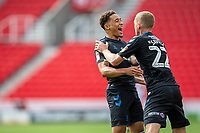 27th June 2020; Bet365 Stadium, Stoke, Staffordshire, England; English Championship Football, Stoke City versus Middlesbrough; Marcus Tavernier of Middlesbrough celebrates his 62 minute goal with George Saville for 0-2