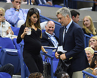 FLUSHING NY- SEPTEMBER 03: Alec Baldwin and Hillaria Baldwin seen watching Venus Williams Vs Laura Siegemund on Arthur Ashe Stadium at the USTA Billie Jean King National Tennis Center on September 3, 2016 in Flushing Queens. Credit: mpi04/MediaPunch