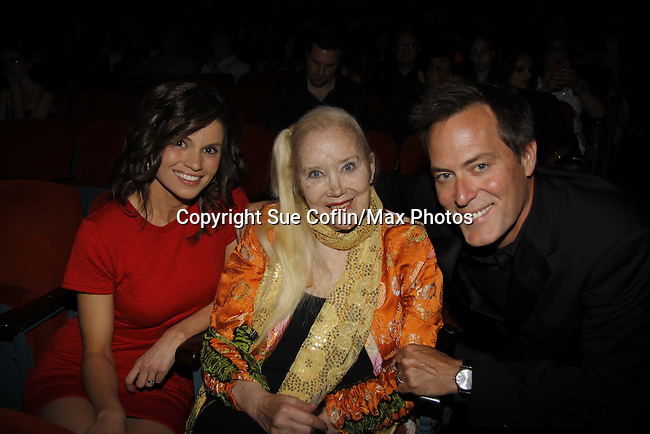 "Mandy Bruno - Sally Kirkland (GH) - Robert Bogue - all star in The film ""Price for Freedom"" worldwide premiere shown on this night  - 10th Anniversary of the Hoboken International Film Festival on May 29, 2015 at the Paramount Theatre, Middletown, NY - runs through June 4. (Photos by Sue Coflin/Max Photos)"