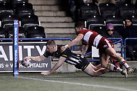 Picture by Paul Greenwood/SWpix.com - 27/04/2018 - Rugby League - Betfred Super League - Widnes Vikings v Wigan Warriors - Select Security Stadium, Widnes, England - Ryan Ince of Widnes Vikings scores his sides fourth try
