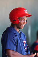 Washington Nationals outfielder Brian Goodwin #13 during an Instructional League game against the Houston Astros at Osceola County Stadium on September 26, 2011 in Kissimmee, Florida.  (Mike Janes/Four Seam Images)