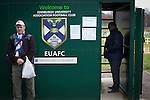 A 'groundhopper' posing for a photograph at the turnstile before watching Edinburgh University taking on Selkirk in a Scottish Lowland League match at Peffermill, Edinburgh in a game the hosts won 3-2. The match was one of six attended by members of GroundhopUK over the weekend to accommodate groundhoppers, fans who attempt to visit as many football venues as possible. Around 100 fans in two coaches from England participated in the 2016 Lowland League Groundhop and they were joined by other individuals from across the UK which helped boost crowds at the six featured matches.
