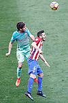 Atletico de Madrid's Koke Resurrecccion (r) and FC Barcelona's Sergi Roberto during La Liga match. February 26,2017. (ALTERPHOTOS/Acero)